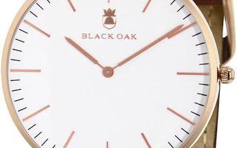 Tmavě hnědé pánské hodinky Black Oak Minimal - doprava zdarma!