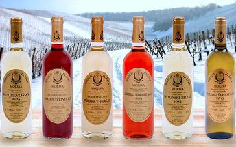 Vánoční kolekce šesti vín od Miroslava Hlávky