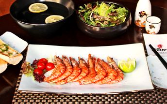 Grilované tygří krevety s česnekovým máslem