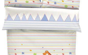 Ibena Dětské bavlněné povlečení do postýlky S.Oliver 4107/100, 100 x 135 cm, 40 x 60 cm