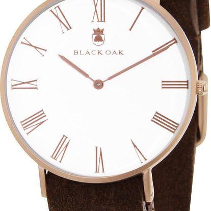 Tmavě hnědé pánské hodinky Black Oak Elegant - doprava zdarma!