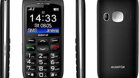 Mobilní telefon Aligator A670 Senior černý