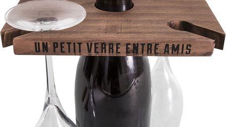 Stojan na víno a 4 sklenice Antic Line Entre Amis
