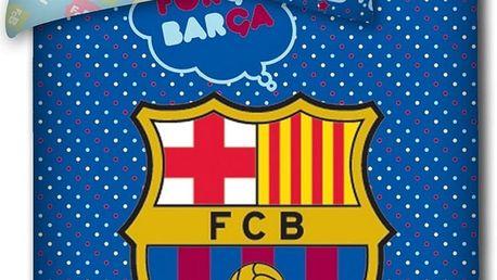 TipTrade dětské povlečení do postýlky FC Barcelona, 100 x 130 cm, 40 x 60 cm