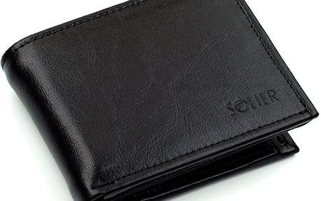 Pánská kožená peněženka SW03, černá