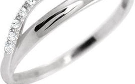 Brilio Dámský prsten z bílého zlata s krystaly 229 001 00569 07 56 mm