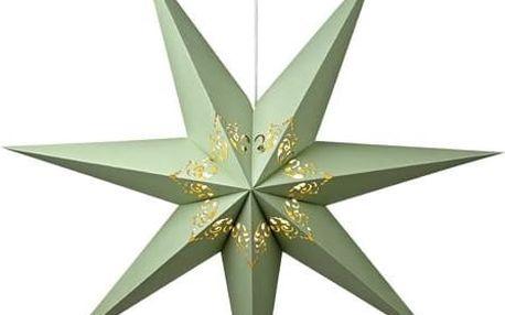 Závěsná svítící hvězda Kandy, Ø75 cm, zelená