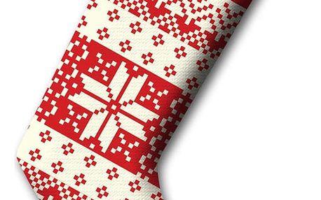 Červená vánoční ponožka Christmas