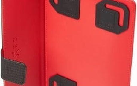"""Pouzdro se stojánkem FIXED 2FACE pro 7"""" tablety - černočervené"""