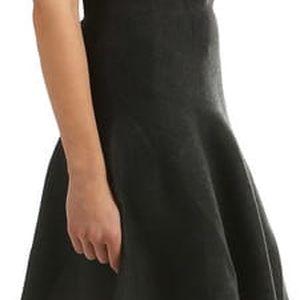 Jednobarevná sukně do chladného počasí černá