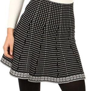 Úpletová vzorovaná sukně do pasu