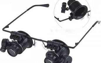 Zvětšovací brýle s LED světlem
