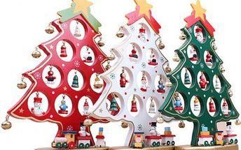 Dřevěný dekorační vánoční stromeček