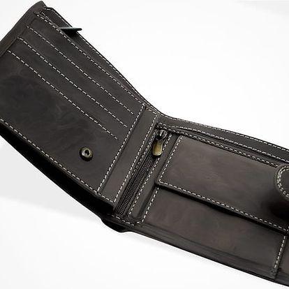 Pánská peněženka: hnědá nebo černá se zapínáním či bez vč. poštovného. Možnost osobního odběru