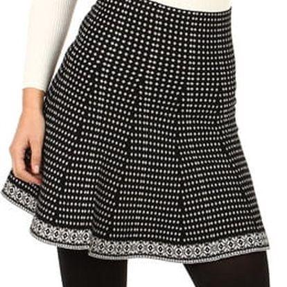 Úpletová dámská vzorovaná sukně do pasu