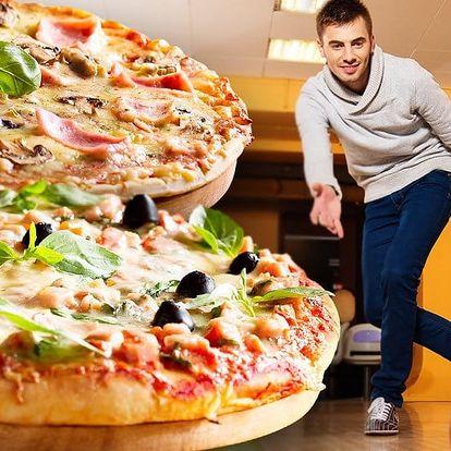 2x skvělá pizza a hodina na bowlingové dráze