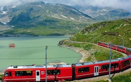 Zájezd do Švýcarska pro 1 osobu na 3 dny s jízdou v panoramatickém vlaku.