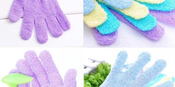 Masážní koupelnová rukavice