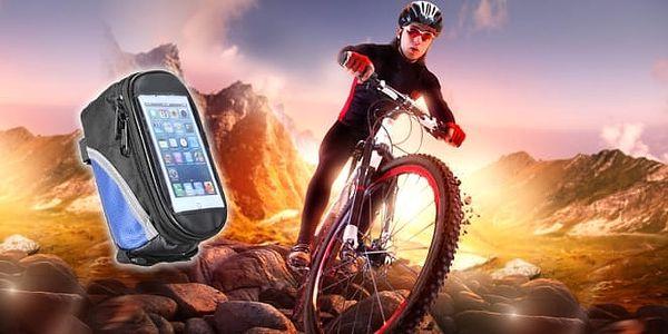 Cyklobrašna - vychytávka a dárek pro cyklisty. Kvalitní voděodolné, polstrované pouzdro pro mobil a další věci, které s sebou vozíte na kole. Rozměry jsou kompatibilní téměř se všemi běžnými mobily a dovnitř tašky se vejde i malá svačinka.