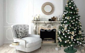Stojan na vánoční stromeček: zelený, zlatý nebo stříbrný, možnost osobního odběru