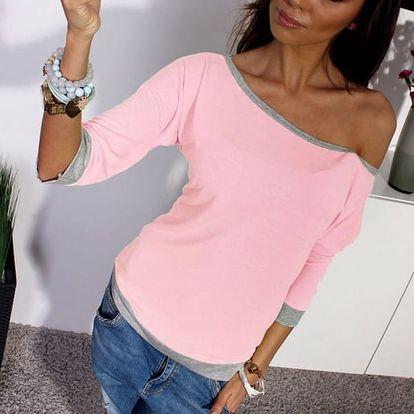 Tričko se spadlým rukávem - 3 barvy