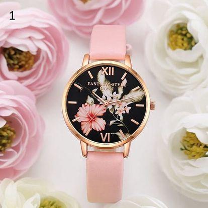 Dámské hodinky v růžové barvě - více motivů