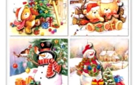 3D jmenovky na vánoční dárky - 6 kusů - dodání do 2 dnů
