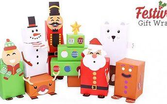 Vánoční krabičky na balení dárků Festive Gift Wrap