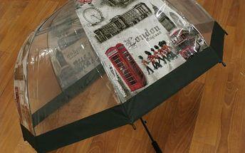 Průhledný deštník Londýn