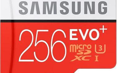 Paměťová karta Samsung 256GB UHS-I U3 (95R/90W) + adapter (MB-MC256DA/EU)