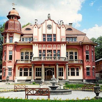 3denní romantický wellness pobyt pro 2 v Letohrádku sv. Vojtěch na Pelhřimovsku
