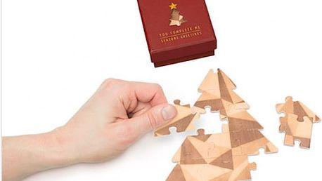 Originální přání Vánoční puzzle