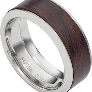 Fossil Pánský prsten s dřevěným dekorem JF02206040 64 mm