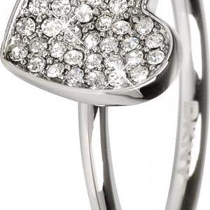 DKNY Ocelový prsten se srdíčkem NJ1995040 60 mm