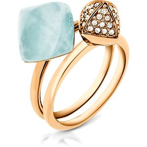 Michael Kors Sada dvou prstenů MKJ5256710 56 mm