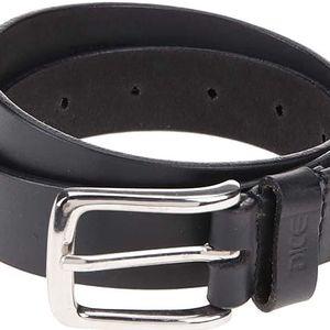 Černý kožený pásek Dice Alamo