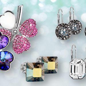 Stříbrné šperky s krystaly Swarovski Elements