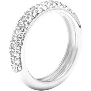 Fossil Stříbrný prsten s krystaly JFS00080040 59 mm