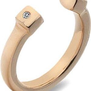Hot Diamonds Stříbrný prsten Hot Diamonds Lucky Rose Gold DR166 52 mm