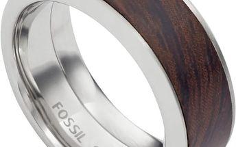 Fossil Pánský prsten s dřevěným dekorem JF02206040 60 mm