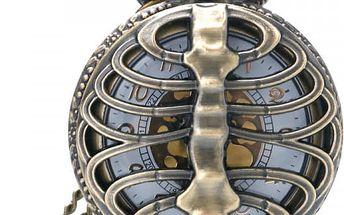 Vintage kapesní hodinky se žebry