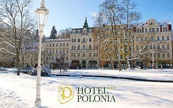 Wellness Hotel Polonia*** s plnou penzí a procedurami pro dva přímo v centru Mariánek