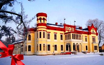 Královský wellness pobyt ve všední dny na zámku Mostov s procedurami a polopenzí pro 2 osoby