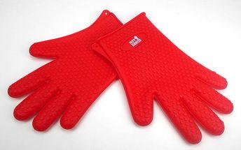 Kuchyňské protiskluzové silikonové rukavice Hot Hands