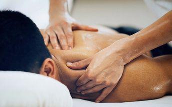 Speciální masáž zaměřená na uvolnění krční páteře