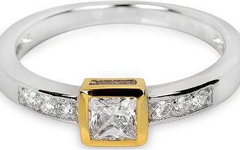 Silver Cat Stříbrný prsten s krystaly SC166 52 mm