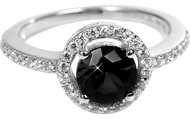 Silver Cat Stříbrný prsten s krystaly SC163 52 mm