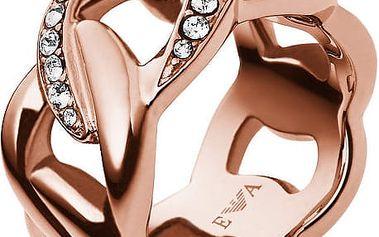 Emporio Armani Luxusní prsten s krystaly EGS1990221 52 mm