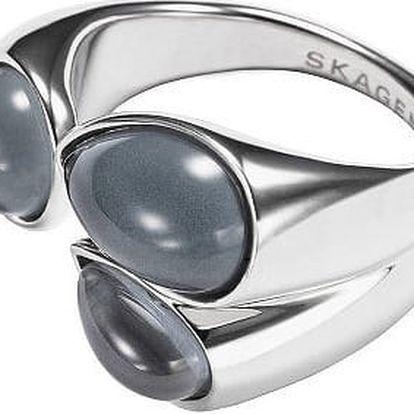 Skagen Módní ocelový prsten SKJ0771040 50 mm