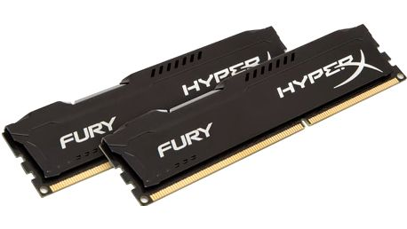 Kingston HyperX Fury Black 16GB (2x8GB) DDR3 1866 CL 10 - HX318C10FBK2/16